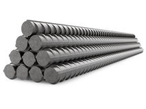 Metal Rebars, Reinforcement Steel, Isolated on Royalty Free Stock Photos