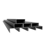 Metal rectangular rods Royalty Free Stock Image