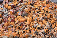Metal recyclables royalty free stock photo