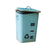 Metal Recycle bin help save the world Royalty Free Stock Photography