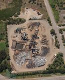 Metal recycling Facility - Aerial View Stock Images