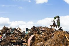 Metal recycling landfill Stock Photography