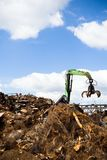 Metal Recycling Over Blue Sky, Landfill Royalty Free Stock Images