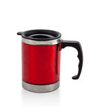 Metal red cup Royalty Free Stock Photo