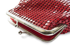 Metal red purse Stock Photo