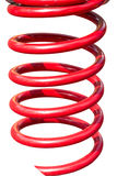 Metal red spring Stock Photos