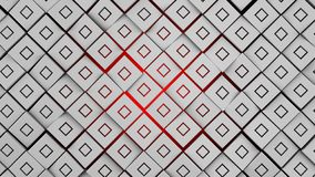 Metal and red squares modern background illustration 3d render. Nice metal and red squares modern background illustration 3d render royalty free illustration