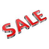 Metal and red word SALE Royalty Free Stock Photo