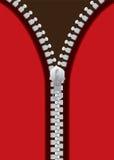 Metal red zip Stock Image