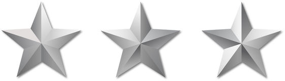 Metal reflect militar stars Stock Photo