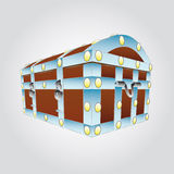 Metal reinforced chest  illustration Royalty Free Stock Photography