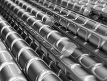 Metal reinforcements Stock Photos