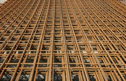 Metal Reinforcing Mesh Royalty Free Stock Photography