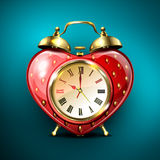 Metal retro style alarm clock. Royalty Free Stock Photos