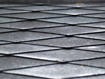 Metal rhomboid texture Royalty Free Stock Photo