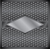 Metal rhombus frame. With diamond shaped grid Royalty Free Stock Images