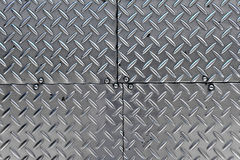 Metal rhombus shaped background Stock Photos