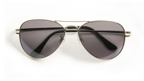 Metal rimmed sunglasses. Isolated on white background Stock Photography