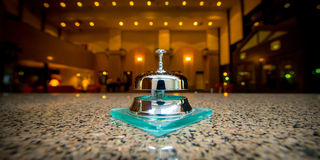 Metal ring bell Royalty Free Stock Photo