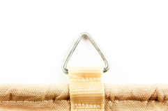 Metal ring on canvas Royalty Free Stock Photos
