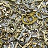 Metal ring pulls Stock Image