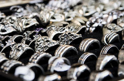 Metal Ringe Stockfoto