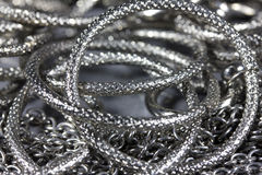 Metal rings, chains Royalty Free Stock Image