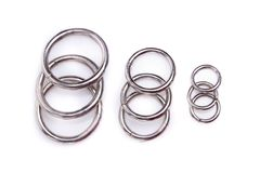 Metal rings completely isolated on white Stock Images