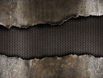 Metal ripped hole background Royalty Free Stock Image