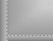 Metal Riveted Background. Texture is grouped for easy removal Stock Image