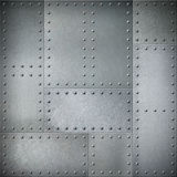 Metal with rivets steel background or texture stock photo