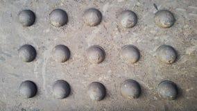 Metal rivets. Texture of rusty metal. Industrial Background Stock Photos