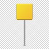 Metal road sign isolated blank for you royalty free illustration