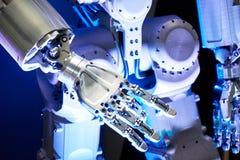 Metal robot arm royalty free stock image
