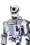 Metal robot isolated on white. Background royalty free stock photo