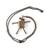 Metal robot necklace Royalty Free Stock Photo