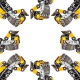 Metal robot parts Royalty Free Stock Image
