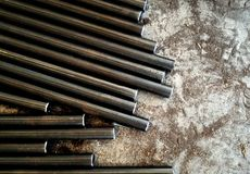 Metal rod and metal dust Royalty Free Stock Image