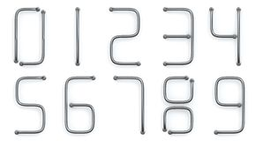 Metal rod numbers Royalty Free Stock Images