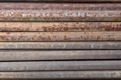 Metal rod rusty. Rusty metal hex rod background Royalty Free Stock Images