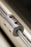 Metal rod with holes Stock Image