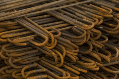 Metal Rods At Construction Site Stock Photography