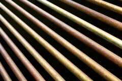 Metal rods. Close up, abstract background Stock Image