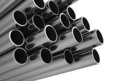 Metal Rohr Getrennt auf weißem Hintergrund Lizenzfreies Stockbild