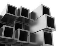 Metal Rohr Getrennt auf weißem Hintergrund Stockfoto