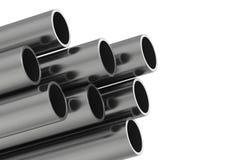 Metal Rohr Illustration der Wiedergabe 3D lokalisiert auf weißem Hintergrund Lizenzfreies Stockfoto