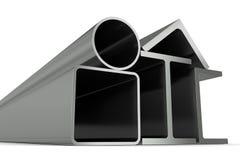 Metal Rohr, Träger, Winkel, Kanäle und quadratisches t Lizenzfreies Stockbild