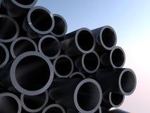 Metal Rohre Abbildung der Wiedergabe 3d Lizenzfreies Stockbild