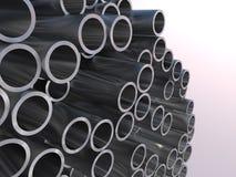 Metal Rohre Abbildung der Wiedergabe 3d Lizenzfreie Stockfotos