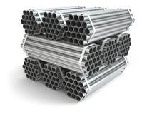 Metal Rohre construction Materialstahl lizenzfreie abbildung